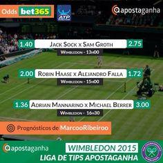 Picks para as principais partidas de hoje do Wimbledon! Apostas? http://bit.ly/robin-haase-vs-alejandro-falla-MarcooRibeiroo http://bit.ly/bonus-50-multiplas-tenis-bet365 http://bit.ly/jack-sock-vs-sam-groth-MarcooRibeiroo http://bit.ly/WimbledonTips2015 http://bit.ly/adrian-mannarino-vs-michael-berrer-MarcooRibeiroo  #Wimbledon2015 #Wimbledon #ATPWorldTour #tennis #apostas #ténis #apostasdesportivas #apostasonline