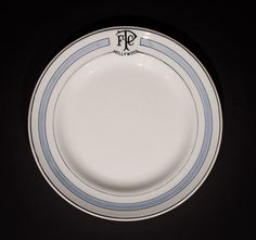"""Famous Players Club, Hollywood  7.25"""" Plate  by John Maddock & Sons, circa 1900-1920 Offered by Track 16. http://www.track16.com #restaurantware #restaurantchina"""