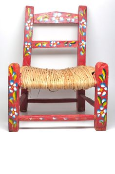 Mexican Childs Chair. Hand Painted ...