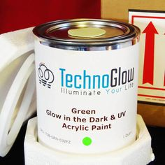 Techno Glow offers glow in the dark acrylic paint that creates a long lasting glowing effect in the dark when charged with light.It can be used on any kind of surface whether it be clean or treated. These paints can be easily washed with soap and warm water if spilled.