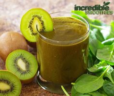 Morning Energy Green Smoothie Recipe with Goji berries Banana, Kiwi and Cacao - Incredible Smoothies