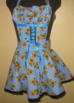 Sunflower apron by byemilyrose on Etsy, $65.00