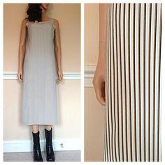 9a2a03885258 90s Festival Dress / Vintage 90s grunge sun dress / stripe midi dress /  jumper rayon / small