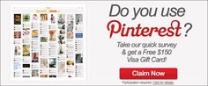 Pinterest has Giveaways now! Already got mine, I'm just passing this forward. Enjoy!