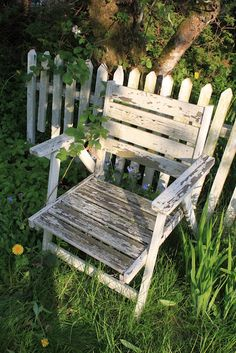 Outdoor chair aged to perfection