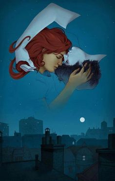 Scarlet (yes, like her hair) Benoit and Wolf (IlovehimIlovehimIlovehim!), from The Lunar Chronicles, in a really cute pic!