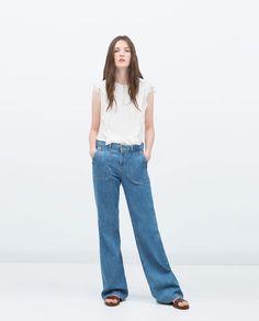 Image 1 of RUFFLE TOP from Zara