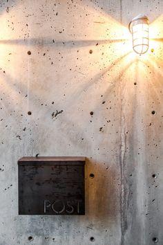 modern steel mailbox by Steelhouse Mfg, Austin TX: Aurea Residence / Chris Pardo Design: Elemental Architecture