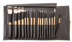 Antonym Cosmetics Professional 17 Brush Set by Antonym Cosmetics. $249.00. super Soft And Luxurious Bristles. eco friendly and cruelty free materials. developed By Makeup Artists. professional quality makeup brushes. powder, blush, contour, foundation, concealer, large eye shader, medium eye shader, medium angled shading, large pencil, blending, cream eye shadow, small eye shader, small angled, eyeliner, lip brush, mascara/brow, covered lip brush and pouch.