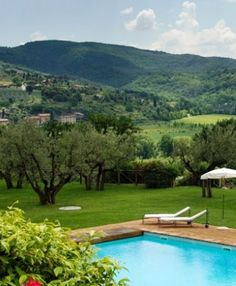 Delight in the views of Umbria from your wine hotel