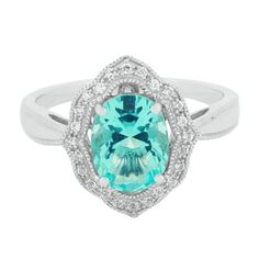 Simulated Paraiba Blue Tourmaline