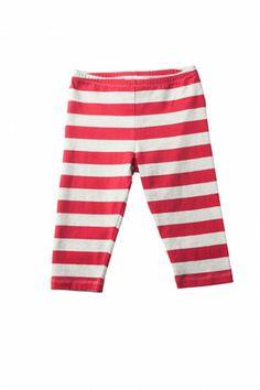 Red Stripe Simple Leggings