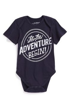 My Onesie is at Nordstrom! Mighty Fine 'Let the Adventure Begin' Bodysuit (Baby) available at #Nordstrom