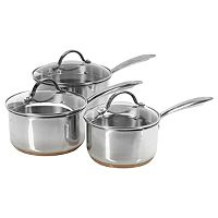 Excellence by George Home Copper Saucepan Set - 3 Pack Kitchen Pantry, Kitchen Ideas, Asda, Home And Garden, Dining, Copper, Cook, Butler Pantry, Food
