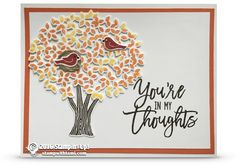 CARD: You're in my thoughts from the Thoughtful Branches set | Stampin Up Demonstrator - Tami White - Stamp With Tami Crafting and Card-Making Stampin Up blog