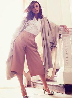 Keira Knightley in Hermesfor Harper's Bazaar.