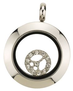{PEACE OUT!}  - Mini Silver Locket from Origami Owl <3  www.Tiff.OrigamiOwl.com