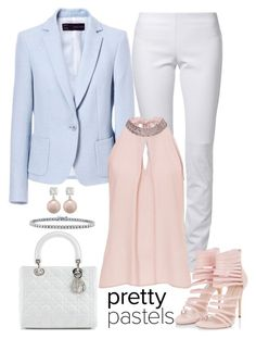 """pretty pastels"" by gallant81 ❤ liked on Polyvore featuring Ventcouvert, Christian Dior, BERRICLE and Vera Mont"