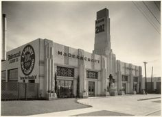 The once beautiful art deco building on the corner of La Brea and Willoughby – most recently known as the Mole-Richardson Building – was unexpectedly demolished on Tuesday, June 10. Description from larchmontbuzz.com. I searched for this on bing.com/images