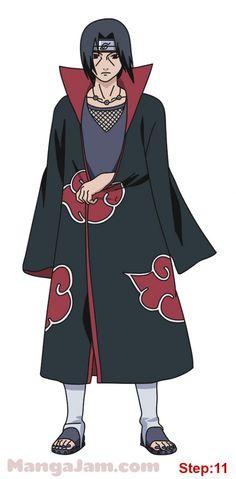 How to Draw Itachi Uchiha from Naruto step 11