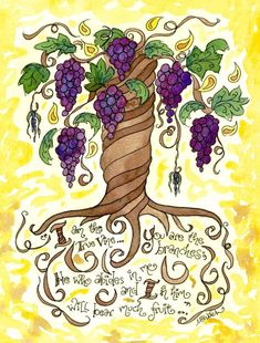 True Vine Personalized Confirmation or First Communion Gift, John 15 5 Scripture Art, Catholic, - Vine Ideas Jesus Rettet, Catholic Confirmation Gifts, Catholic Communion, Vine And Branches, Bible Drawing, True Vine, First Communion Gifts, Bible Verse Art, Images And Words