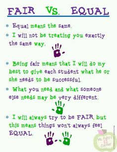 A teacher told me today that reading a test to a special education student and them getting isn't fair. Fair doesn't always mean equal. Exactly how God is with his children too. Classroom Behavior, Classroom Posters, School Classroom, Classroom Ideas, Teacher Posters, Classroom Charts, Classroom Signs, Classroom Environment, Teacher Quotes