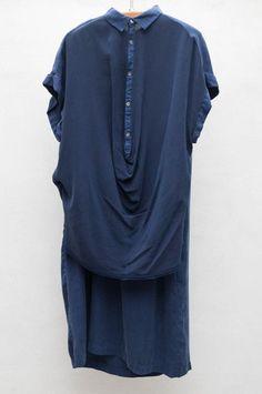 Blue Shift Dress by Pas De Calais $348 | shopheist.com