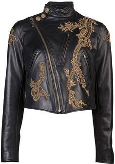 Ralph Lauren Embroidered Motorcycle Jacket