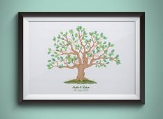 Instant Download Fingerprint Tree Newton wedding thumbprint   Etsy Wedding Fingerprint Tree, Fingerprint Art, Bridal Shower Decorations, Birthday Party Decorations, Presentation Pictures, Gift Drawing, Ink Color, Party Gifts, Prints