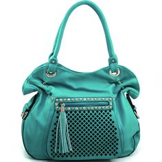 Product listing found under Featured Handbags / Rhinestones and studs bag on www.bestquai.com Turquoise Purse, Studded Bag, Belts For Women, Fashion Handbags, Studs, Backpacks, Zipper, Pocket, Purses