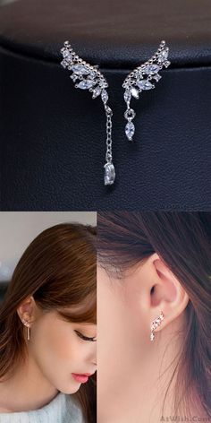 HYPOALLERGENIC Fashion Vintage Metal Alloy Silver Zipper Shape Studs Earring For Women Men and Girls