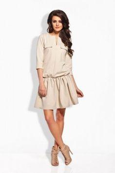 L126 beżowa sukienka