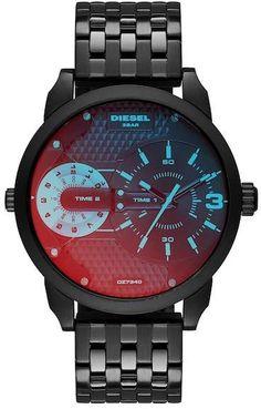 Diesel Men s Mini Daddy Dual Time Bracelet Watch, ... 785cdde287