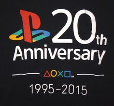 Sony PlayStation 20th Anniversary 1995-2015 Collector's T-Shirt Size Men's Small #Sony