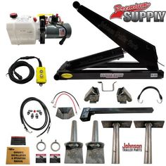 Johnson Trailer Parts offers Hydraulic Scissor Hoist Kits - Trailer Axles - Trailer Parts Kits - LED Lights - Trailer Plans & More. Call us at Work Trailer, Trailer Plans, Trailer Build, Trailer Kits, Dump Trailers, Cargo Trailers, Utility Trailer, Lifted Chevy Trucks, Dump Trucks