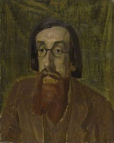 Henry Lamb  -  Lytton Strachey,  c.1913–1914,  Oil on canvas, 59 x 46 cm, The Fitzwilliam Museum