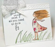 Your wings exist... - Phyllis Harris & Unity Stamp Company - Created by Unity Friend - JenMarie Taylor