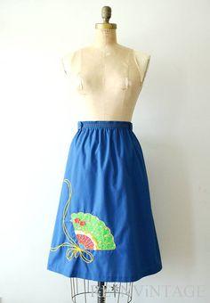 vintage 1970s skirt - 70s spanish fan skirt / by shopREiNViNTAGE