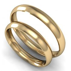 Klasszikus karikagyűrű pár 2,5mm sárga domború