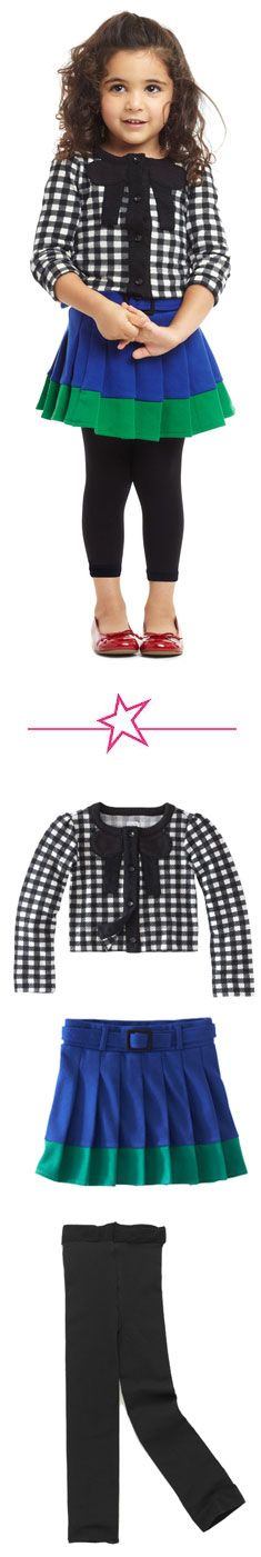 {School Girl Chic Outfit} Love the cardigan as a jacket alternative.
