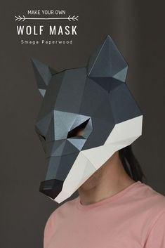 Printable Wolf mask. Halloween animal mask by SmagaPaperwood #coolhalloweencostumes #animalcostumes  #scarymasks#halloweenmask #wolfmask #masquerademask #maskforwomen #maskformen #costumeparty #papermask  #diymask #animalmask  #wolfmask #papermask #animalcostume  #maskdesign   #cardboardmask  #maskpattern  #diyhalloweenmask #papercraftmask #3dmask #paperfacemask #printablepapermasks #3danimalmask  #papermaskdesign #papercraftpatterns #diypapermask  #uniquemasks   #uniquehalloweencostumes