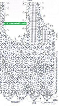 crochelinhasagulhas: Colete em crochê