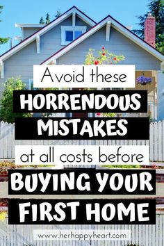 Buying Your First Home: The Crippling Mistakes I Made That You Can Learn From - Buying a house first time mistakes and tips Home Buying Checklist, Home Buying Tips, Home Buying Process, Buying Your First Home, First Time Home Buyers, Rent Vs Buy, Build Your Own House, Up House, Home Ownership