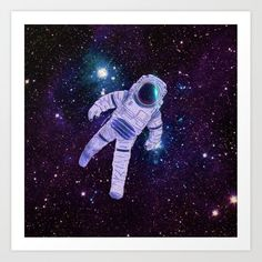 Space Man Art Print by Ulisses - X-Small From The Ground Up, Buy Frames, Printing Process, Gallery Wall, Darth Vader, Watercolor, Make It Yourself, Art Prints, Space