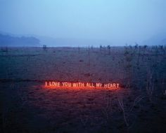 Neon Text Installations by Lee Jung typography photography light installation art -1
