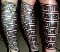 80 Rune Tattoos for Men - Germanic lettering design ideas - Runen - Art Viking Rune Tattoo, Viking Tattoo Sleeve, Norse Tattoo, Forearm Sleeve Tattoos, Celtic Tattoos, Leg Tattoos, Arm Band Tattoo, Body Art Tattoos, Tattoos For Guys