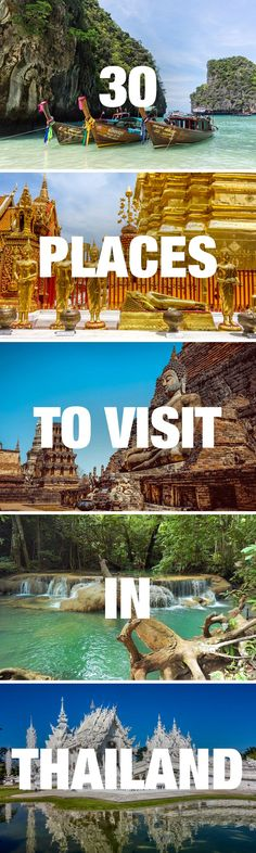 Travel guide to Thailand with all the best places to visit, from Bangkok to Chaing Mai to Koh Phi Phi. Thailand Vacation, Thailand Travel Guide, Visit Thailand, Phi Phi Thailand, Bangkok Trip, Ireland Vacation, Phuket Thailand, Philippines Travel, Ireland Travel