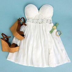 vestido blanco   Tumblr