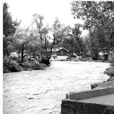 Photograph of Rapid Creek flooding, Rapid City, South Dakota. 1972