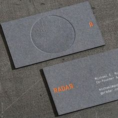 "147 Likes, 7 Comments - Order (@order.design.nyc) on Instagram: ""Hot off the letterpress ⚙️ Business cards for Radar. Printed by @studioonfire. Designed by…"""